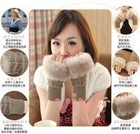 Lovely lady gloves Winter warm arm Wool half gloves