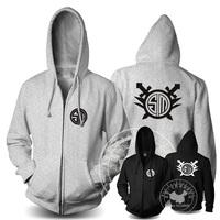 Free shipping TSM Game hoodie Cardigan fleece Sweater men sweatshirt printed sweatshirt zip Casual hoodie winter coat