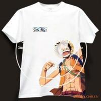 fashion short sleeve tee Anime t shirt one piece luffy skull tshirt cartoon men & women T-shirt 6 color 100% cotton