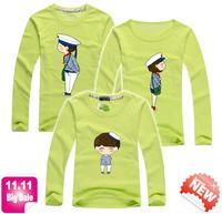 11.11 BIG SALA Navy family t shirt spring autumn long sleeve family sets kid dad mum parentage tee baby clothes PANYA QCX19