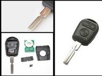 3 Button Remote Key FOB With Blank Blade HU58 For B*M-W 3 5 7 X5 X3 Z4 E38 E39 E46 315MHz ID44 Chip
