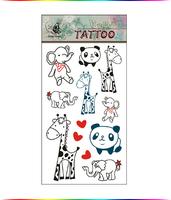 "Free Shipping ""Cute Animals"" Temporary Tattoo Body Art Tattoos"