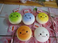 10pcs/lots cute face jumbo bread squishy in hamburger tags