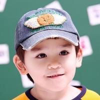 Autumn new children baseball cap boy and girl scrub hat plaid beret beanie baby