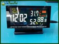 New Arrival 12V/24V Digital Auto Car Thermometer+Car Battery Voltmeter Voltage Meter+Noctilucous Clock+Freeze Alert VST-7009V