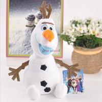 "2014 Cartoon Movie Frozen Olaf (9"" /22cm) Snowman New Arrival Plush toy Stuffed Soft Toys WJ-BAA"