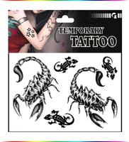 "Free Shipping ""Armored Scorpio"" Temporary Tattoo Body Art Tattoos"