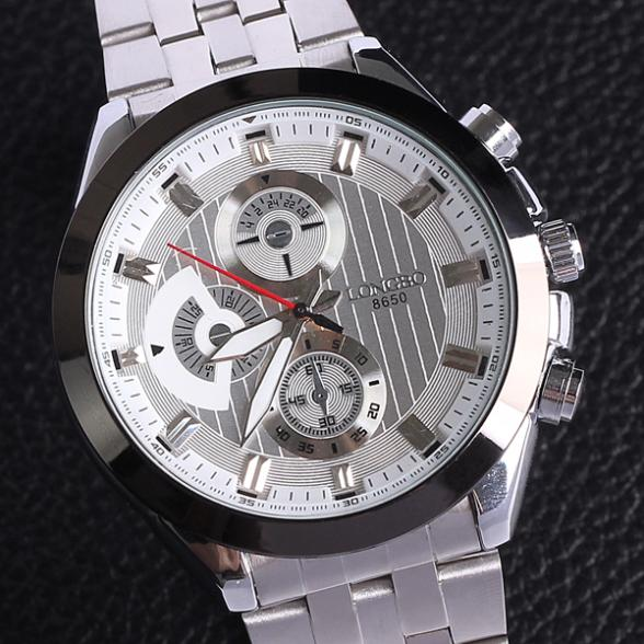 Top 50 selling in Aliexpress Watch luxury men genuine quartz jewelry Japan movement stainless steel alloy