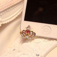 For iphone 5 dust plug rhinestone earphones prepositioned plug  for apple 5 luxury princess wind free shipping