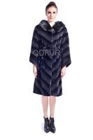 Lady Luxurious Natural Full Pelt Rex Rabbit Fur Jacket Coat Casual Overcoat Winter Women Fur Outerwear Coats Thick Parka QD80171