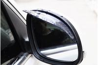 free shipping plastic pvc car rearview rain shield eyebrow for mitsubishi lancer/pajero/outlander/galant/asx