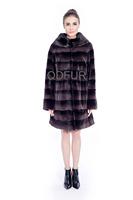 Fashion Female Natural Rex Rabbit Fur Jacket Coat O-Neck Collar Overcoat Winter Women Fur Outerwear Coats Lady Parka QD80173