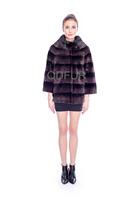 Winter New Style Grace Women's Genuine Full Pelt Rex Rabbit Fur Coat  Casual Jacket Female Short Outerwear Tops QD80168