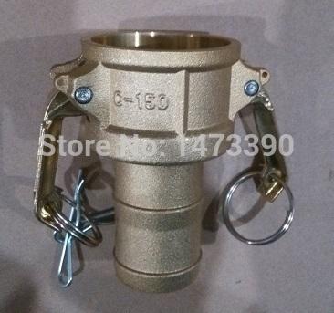 "Camlock Type C Coupler, Brass , 1 1/2"" , Hose Shank(China (Mainland))"