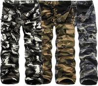 European and American Hot selling velvet men camouflage pants large size multi-pocket tooling pants winter long pants