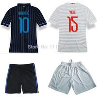 High quality kits14 15 Serie A soccer jerseys+shorts VIDIC GUARIN KOVACIC home football shirt ICARDI away white soccer uniforms