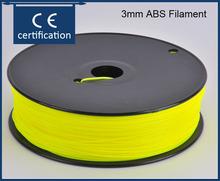 New 2015 3d printer kit reprap diy kits yellow color 3mm abs 3d  filament  printer part for createbot,makerbot,reprap etc