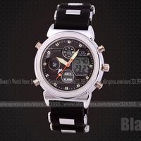 Teenage Watches Men Uisex Sports Military Fashion Casual Wristwatches Dual time Digital Analog Quartz Watch Relogio Masculino