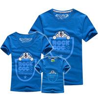 1 piece retail 2015 summer short sleeve family t shirt Doraemon Dad+Mum+Kid set shirts baby clothes PANYA QDX08