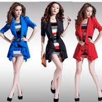 2014 Hitz women fake two-piece  package hip Slim dress coat
