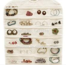 72 Unit Pocket Double Sided Hanging Jewelry Organizer Storage Bag Case Holder 00052