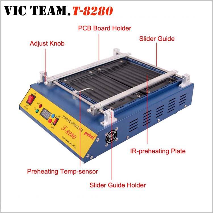 PH014 Puhui T-8280 IR Preheating Plate IR Preheating Oven T8280 220V or 110V(China (Mainland))