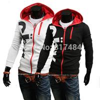 Brand New Hot Fashion men's Sexy Slim Fit Sweatshirt Hoodies Hooded sweater Casual Coat Outwear Jacket white black