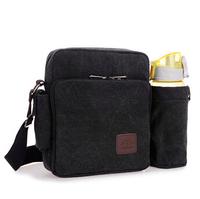 HOT new 2015 men tactical bag cotton solid canvas messenger bag male crossbody bolsa bottle bags men's travel bags