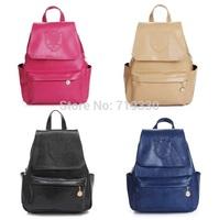 New Fashion Women Backpack PU Leather Backpacks Girl Casual School Backpacks Free Shipping