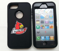 High quality customs design Louisville Cardinals printing case for iphone 5S/6G/5C/4S, free shipping by DHL