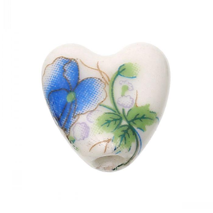 Chinese Flower Pattern Heart Blue Flower Pattern
