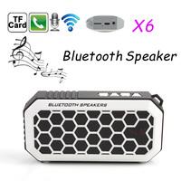 BEST Bluetooth Mini Speaker X6 Super Bass Speakers with Wireless Microphone TF U Disk Slot Speakerphone Handsfree for Smartphone