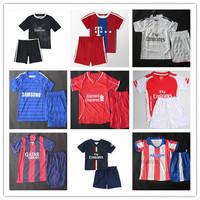 Thailand Real Madrid Dragon BORUSSIA DORTMUND Ronaldo Neymar 14 15 Soccer Jersey Manchest Messi Kids Thai Kit