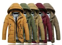2014 Brand Fashion Down & Parkas Outdoor Hood Warm Windproof Winter Jacket Men Casual Men's Jacket M~XXXL  free shipping