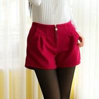 2014 Autumn Winter Spring New Fashion Women Woolen Bootcut Short Pants Free Size Casual Shorts Free Shipping