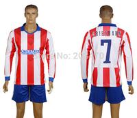 14 15 home red/white soccer jersey #7 GRIEZMANN men's long sleeve football uniform thai quality designer sport tracksuit sets