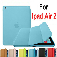 Newest 1:1 official Design Fashion Smart Case For Apple iPad Air 2 Ultra thin Flip Cover Case For iPad 6 with retail package