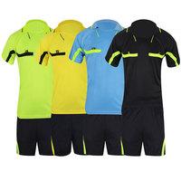 2014 Jersey Soccer Judge uniform professional soccer referee clothing Football referee Jersey black yellow green blue