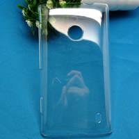 For  NOKIA LUMIA 520 N520 high quality PC Ultra-thin hard  transparent back cover case  , MOQ:1pcs . wholesale