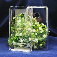 For Nokia Lumia 530 N530 high quality PC Ultra-thin hard  transparent back cover case  , MOQ:1pcs . wholesale