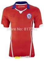 A+++ Top Men Brand Thailand 2014 Chile Thai World Cup New Football Soccer Jersey Futbol Kit Shirt