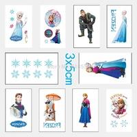 best-selling Frozen Tattoo Sticker Temporary Fashion Anna elsa tattoo stickers Kids love DIY sticker body and finger decoration