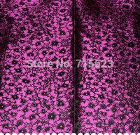 2613 Free Shipping  purple plum blossom heavy  brocade silk fabric for hometextile