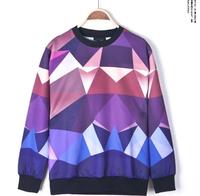 Men t-shirt  vintage Abstract tshirt irregular Geometric mosaic  color stitching pattern t shirt  fashion casual stle for mens