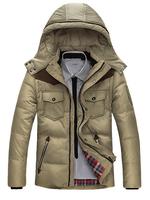 2014 New Fashion Winter Warm Jacket Men Coat Hoodie Coat Thicken Outerwear Hoody Down Jacket Outdoors Men's Parka Jacket