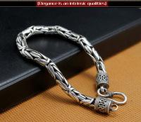 925 sterling silver jewelry bracelets Seiko veins Thai Silver Men's Silver Bracelets