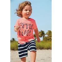 October Children's clothing wholesale 210996 summer GIRLS letter T-SHIRT + stripe SHORTS casual 2 piece sets 6set/lot