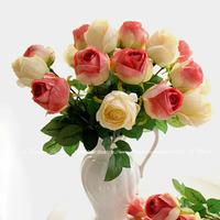 Wholesale Single Head Artificial California Silk Rose Home Wedding 10pcs/lot Decorative Flowers Wedding Party Decoration
