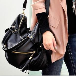 2014 European and American fashion hot big bag tassel bag Shoulder Messenger Cross N9 mobile female bag wholesale(China (Mainland))