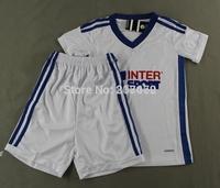 New 14 15 Marseille white football jersey kid's soccer uniform child short sleeve training suit boy's tracksuit sportswear sets